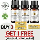 Premium Pure Natural Organic Aromatherapy Carrier Base Oil Massage Oils