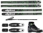 NEW ALPINA CONTROL 64 CROSS COUNTRY NNN SKIS/BINDINGS/BOOTS/POLES PACKAGE -195cm