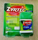 ZYRTEC Allergy Relief 24hr 70 count 10MG TABLETS Fresh Free Ship on eBay