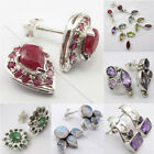 925 Silver Multi Shape, Multi Stone, STUD POST Earrings ! Beautiful ART JEWELRY