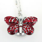 4Color Choose Cute Butterfly Pocket Necklace Quartz Watch Party Gift GL36