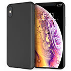 Ultra-Thin Matte Black Silicone Case Slim-Line Cover For iPhone XS MAX XR X 2018