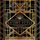 Figure Gold Gatsby Style CP Photography Backdrop Printed Background HXB-083