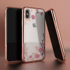 For Apple iPhone XS Max XR XS Luxury Hybrid Crystal Bling TPU Clear Case Cover