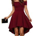 UK Womens Skater Mini Dress Party Evening Cocktail Prom Bridesmaid Gown Dresses