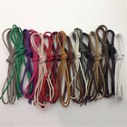 Unisex Waxed Coloured Shoelaces For Leather Shoe Lace Round Strings Martin Boots