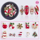 10pcs/set Fashion Christmas Santa Claus Snowman Nail Art Xmas Nail Patch Gifts