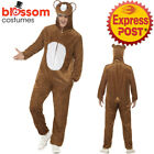 CA389 Bear Zoo Animal Mens Ladies Fancy Dress Up Jumpsuit Book Week Funny Outfit