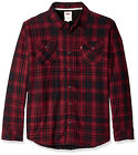 Levi's Men's Sherpa Lined Flannel Plaid Long Sleeve Button Up Woven Jacket Shirt