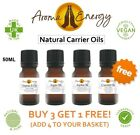 Premium Pure Natural Organic Aromatherapy Carrier Base Oil Massage Oils 50ml