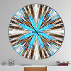 East Urban Home Designart Flowers with Radiating Rays Modern Wall Clock