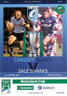 CARDIFF BLUES WALES HOME RUGBY PROGRAMMES 2004 WELSH AND ENGLISH CLUBS GOOD +