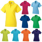 RUSSELL WOMENS CLASSIC COTTON PIQUE POLO SHIRT XS-XXL 569F