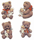 Christmas Angel Teddy Bear Select-A-Size Ceramic Waterslide Decals Ox image
