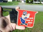 Vintage 50s Auto License plate topper TAKE IT EASY gm ford chevy rat rod promo $35.39 CAD on eBay