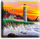 LIGHTHOUSE OCEAN SUNSET SEA SHORE LIGHT SWITCH OUTLET WALL PLATES ROOM ART DECOR