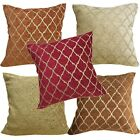 Pillow Cover*Rhombus Chenille Sofa Seat Pad Cushion Case Custom Size*Wk6
