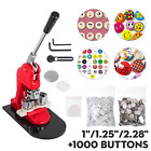 1'/1.25'/2.28' Button Maker Machine+1000 Buttons Circle Badge Punch Press Pin US