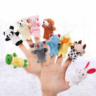 1-10x Finger Puppets Cloth Doll Baby Educational Hand Cartoon Animal Toys Supply