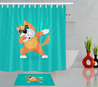 "Cute Tiger Blue Background 72X72"" Shower Curtain Liner Bathroom Accessories Hook"