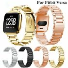 Luxury Stainless Steel Metal Strap Wrist Bands Bracelet For Fitbit Versa Watch image