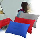 Double Sided Camping Pillow Inflatable Fabric Feel Head Cushion Travel Hiking US