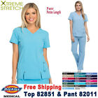 Dickies Scrubs Set XTREME STRETCH V Neck Top  Cargo Pant 82851/82011 Petite