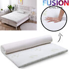 100% BAMBOO MEMORY FOAM MATTRESS TOPPER QUILTED NON ALLERGENIC ORTHOPAEDIC <br/> UK SELLER * FREE TRACKED DELIVERY * BRAND NEW*
