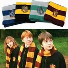 Harry Potter Scarf Hat Tie Gryffindor Slytherin Hufflepuff Ravenclaw Set Cosplay