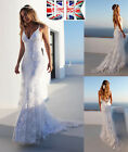 Womens Sexy Mermaid Long Evening Formal Party Dress Wedding Backless Dresses