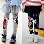 Toddler Girls Mickey Minnie Mouse Skirt Pants Baby Kids Stretch Leggings Trouser
