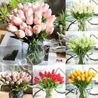 Artificial False Tulip Fake Flowers Bouquet Real Touch Room Home Wedding Decor