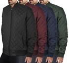 Men's Ring Zipper Fashionable Quilted Water Resistant Slim Fit Bomber Jacket JASON