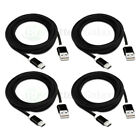 1-100 Lot Micro USB 10' Braided Cable Cord for Phone Samsung Rugby 4/LG G2 G3 G4