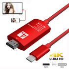 RED USB-C Type-C to HDMI HDTV Adapter Cable For Samsung Galaxy S9 S8 Note 9 8 TV
