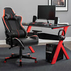 Merax Race Car style Office Gaming Chair Ergonomic Recliner Footrest Armrest