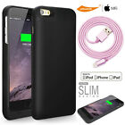 Extended Backup Battery Case MFI Slim iPHONE 6 6s PLUS 5.5/Lightning Cable USB