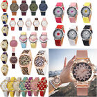 Fashion Women's Wrist Watch Casual Leather Stainless Steel Analog Quartz Watches image