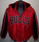 CHICAGO BULLS Winter Jacket Parka Fleece Lining LARGE  RED & BLACK on eBay