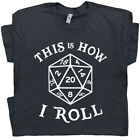 20 Sided Dice T Shirt Dungeons and Dragons T Shirt Magic The RPG Gathering D&D image