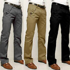 Mens Straight Leg Work Cargo Pants Slim Jean Formal Dress Trousers Business Pant