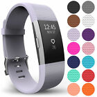 Premium Soft Silicone Replacement Strap Band for Fitbit Charge 2 Secure Buckle
