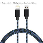 200cm Nylon Braided 3.1 Data Sync Charger Charging Cable Cord For iPhone Android