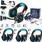 Gaming Headset Mic LED Headphones Stereo Surround for PS3 PS4 Xbox ONE 360 3.5mm