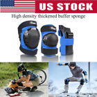 6 Pcs Adult Roller Skating Protective Gear Set Knee Pads Elbow Pads Wrist Guards