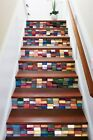 3D Colorful Lattice 11 Tile Marble Stair Risers Decoration Mural Vinyl Wallpaper