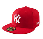New Era 59Fifty MLB Cap New York Yankees FITTED hat  RED ON WHITE on Ebay
