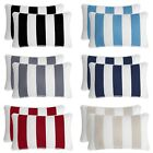 2 PC Water Resistant Indoor/Outdoor Patio Decorative Stripe Throw Pillow Cushion