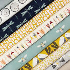 Bird's Nest Fabric / quilting dressmaking mustard arrow bee dragonfly bumblebee