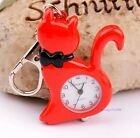 New Cat easy to read time boys Girls Lady Childre Key Ring Chain watch gift DX2